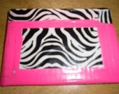 pink and zebra duck tape wallet