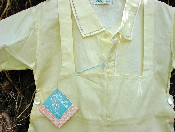 Vintage Yellow Baby Boys Jack in the Box Overalls with Shirt New Old stock with tags