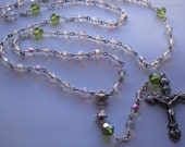 Girl's First Communion Rosary, Personalized Girl's Rosary
