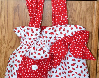 Red Lips Bow Bag
