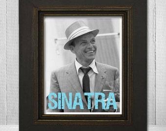 Frank Sinatra Print 8x10 - Musician Print - Music Legend Print - Music Poster - Vintage Music Art Print