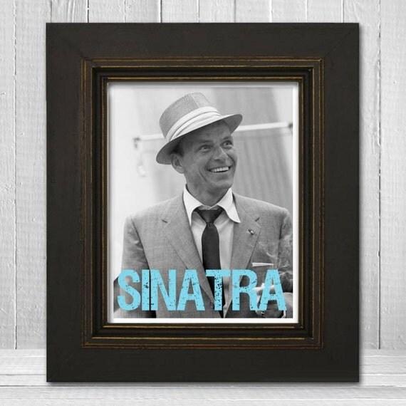 Frank Sinatra Print 8x10 - Music Print - Music Legend Print - Music Poster - Vintage Music Art Print