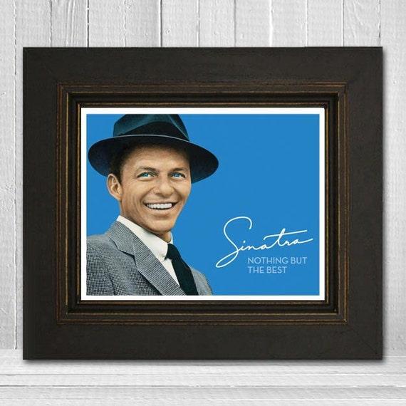 Frank Sinatra Print 11x14 - Musician Print - Music Legend Print - Music Poster - Vintage Music Art Print