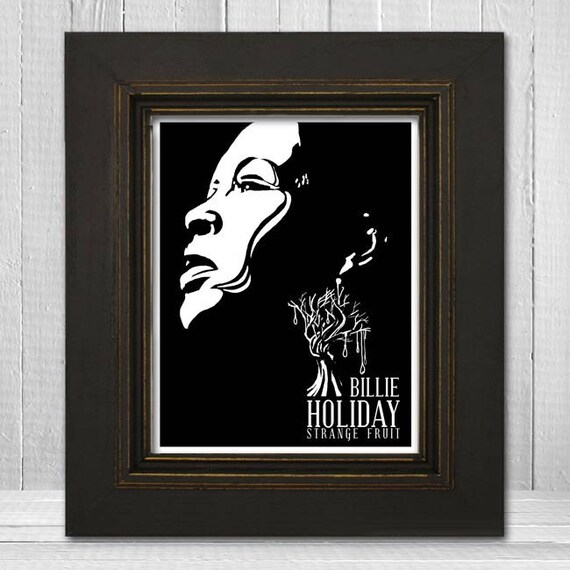Billie Holiday Print 8x10 - Music Print - Music Legend Print - Music Poster - Vintage Music Art Print - Billie Holiday