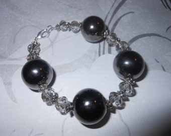 Large Charcoal Gray Beads