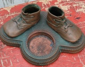 Bronzed Children Shoe Ashtray