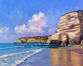 Seascape painting of Armacao de Pera, Algarve, Portugal