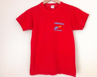 80s vintage eighties interview band big oceans tshirt small size - 1 available