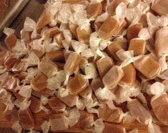 Handmade, small batch, GINGER caramels (1/2 lb.)