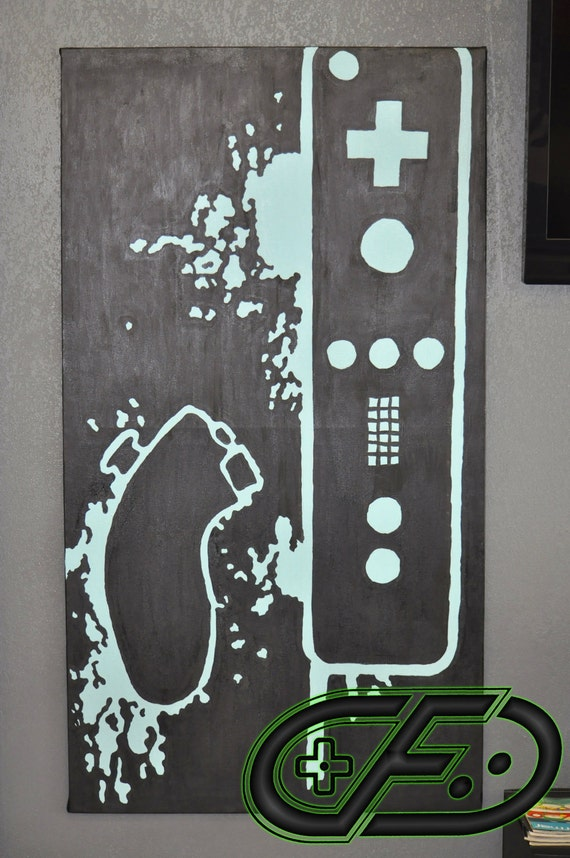 Nintendo wii video game room painting for Room painting games