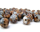 49 Grey and Brown Acrylic Beads