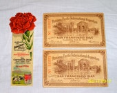 Pair of Tickets to Panama-Pacific Exposition of 1915 and a Souvenir Book-Mark