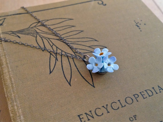 Forget-Me-Not Vintage Necklace, perfect Leaving gift