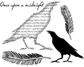 Set - Once Upon A Midnight . . . UM Rubber Stamps