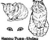 Set - Feline Friends UM Rubber Stamps