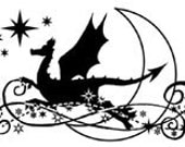Dragon Moon UM Rubber Stamp