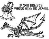 Set - Believe In Dragons UM Rubber Stamps