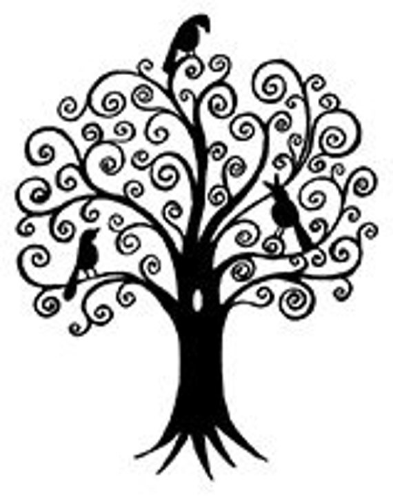 Birds In Tree UM Rubber Stamp