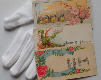10 Victorian Calling Cards