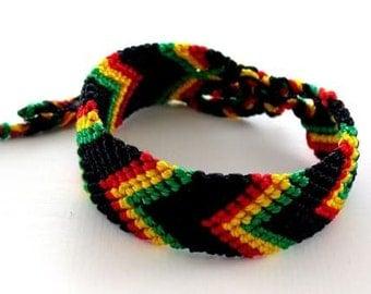 Rasta Friendship Bracelet Large Bob Marley Reggae