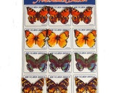 vintage butterfly tin badge 12set from Japan
