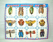 Vintage tin  insect badge 12set from Japan