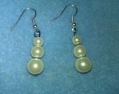 Light Cream Glass Pearl Earrings