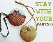 stay with your partner - vintage instant collection of scout canteens, boy scout, girl scout, camping, plaid
