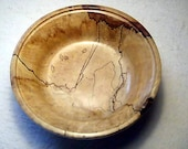 Spalted Maple Bowl with unique figure and glossy finish