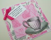 Get  Well Greetings Card with Tea Cup