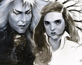 Labyrinth- Jareth and Sarah Illustration