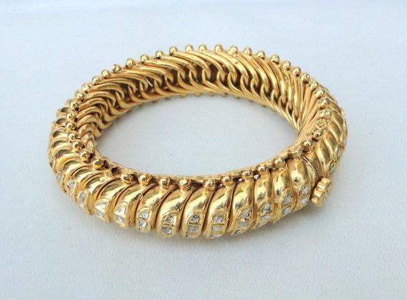vintage antique 22 carat Gold Daimond polki kundan Bracelet bangle jaipur india