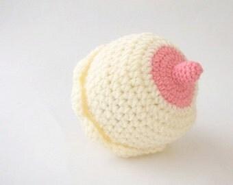 0-3 Month Breastfeeding Baby Boobie Beanie - Crochet baby hat