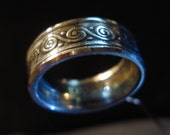 20 KRONER Coin Ring, made to order, sizes 8 to 12 available.
