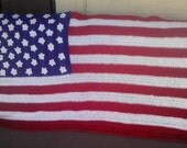 4th Of JULY  SALE  Beautiful American Flag USA Blanket Afghan
