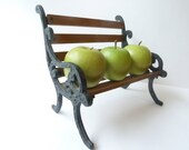 Vintage Doll Bench, Park Bench, Minature Chair, Bench, Home Decor, Curiosity