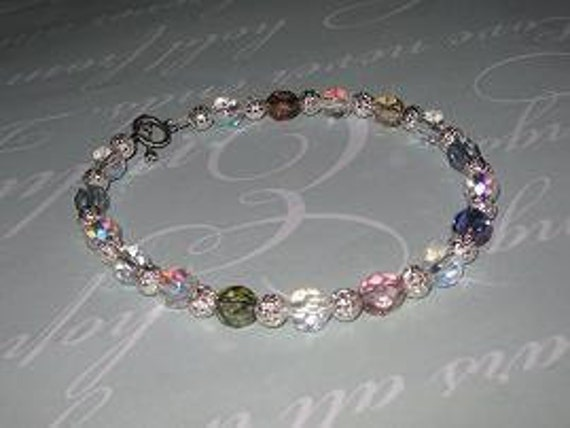 Czech and Crystal Anklet