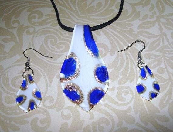 Lampwork Glass Jewelry Set