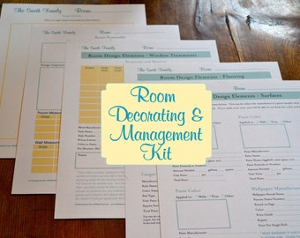 The Room Decorating and Management Kit - 5 Documents IMMEDIATE DIGITAL DOWNLOAD