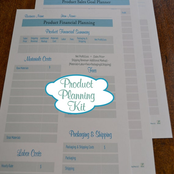 Etsy Seller Business Organizer Printables: Product Planning Kit - 3 Printable PDFs IMMEDIATE DIGITAL DOWNLOAD