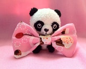 Pink Kawaii, Sweet Cherry Cupcake Sprinkles Bow