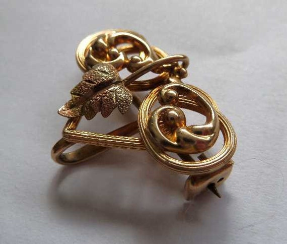 Late Victorian Edwardian Chalelaine Watch or Pendant Brooch Pin Simmons 1900s