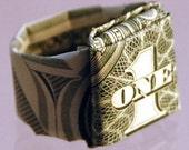 Origami Dollar Ring Handfolded