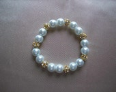 SALE Baby Bracelet with Gold Dazzle Beads