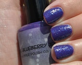 "Purple Jelly Base with Royal Blue Glitter - ""Grape-Blueberry Jelly"" by Piper Polish Co. - 15 ml Full Size"
