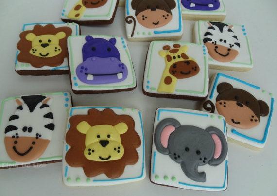 1 Dozen Zoo Baby Cookies