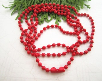 10pcs 68cm 2.2mm Red Ball Chain  Necklace Chain For Jewelry Making