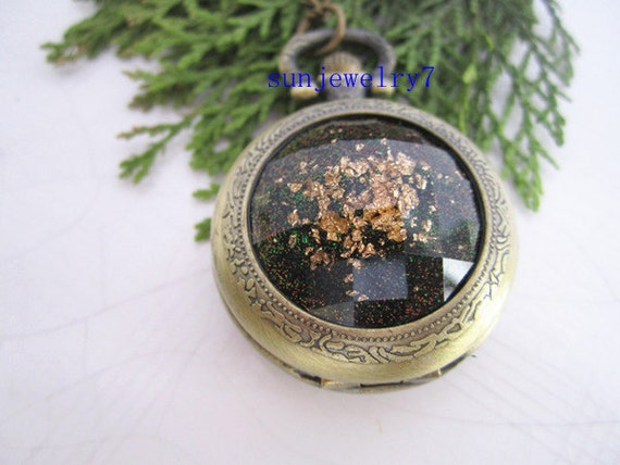1pcs Changeful color Crystal pocket watch charms pendant  PW050 35mmx35mm