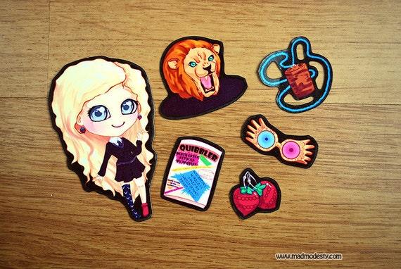 Luna Lovegood chibi sticker set (Harry Potter)