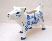 Delft Like Blue Cow Creamer Pitcher